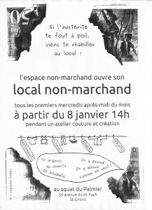 affiche local no marchand
