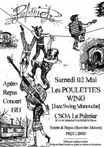 Affiche A4 Le Palmier Poulette's Wing