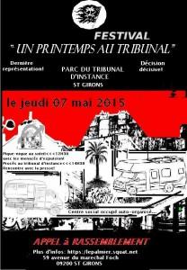 affiche rassemblement 7 MAI