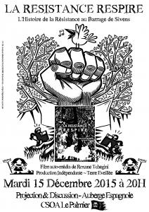 La Résistance Respire Film Flyer A4 NB
